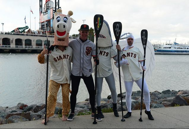 Giants Stand Up Paddleboard Racing on San Francisco Bay