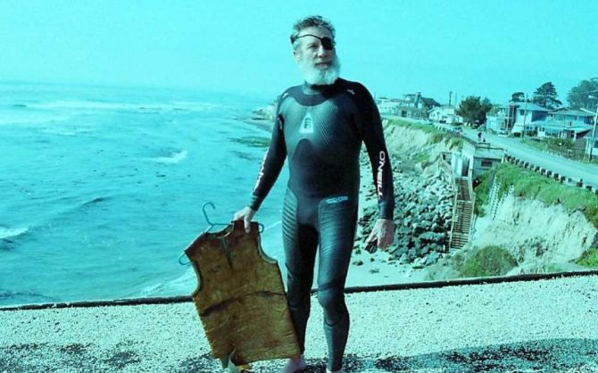 O'Neill Invented the wetsuit right here in San Francisco.