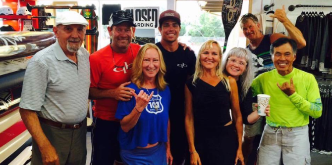 Team quickblade stand up paddling stops by 101 Surf Sports