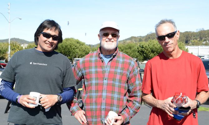 Vincent Huang, Pete Rudnick and Steve Elliot Stand up paddlers