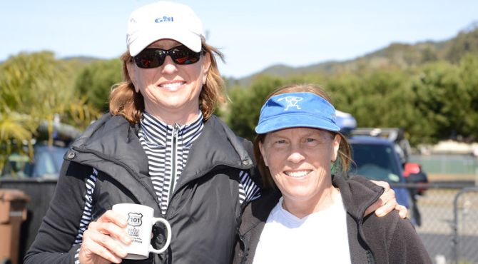 Hilary Andersen and Cathy Huang Stand Up Paddle short course winners