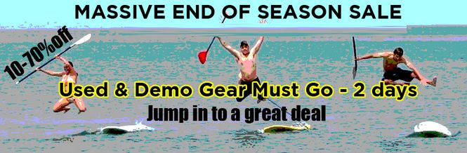 Used - Demo Gear Sale on Paddleboards
