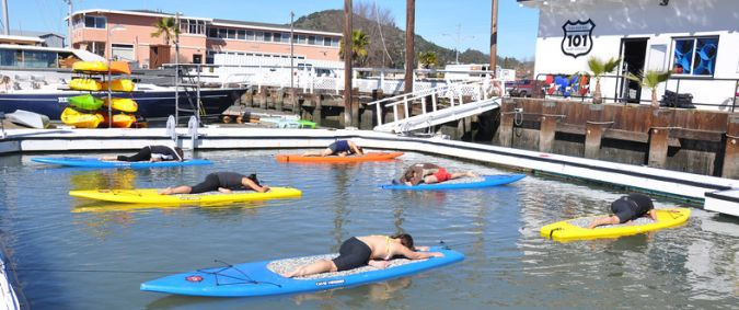 Stand Up Paddleboard Yoga in Marin County San Rafael
