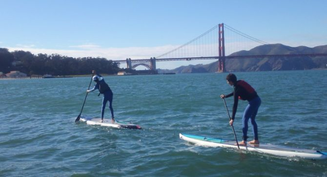 Crissy Field stand up paddleboarding adventure