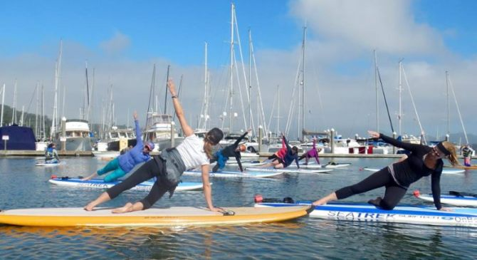 SUP Yoga on San Francisco Bay in Redwood City