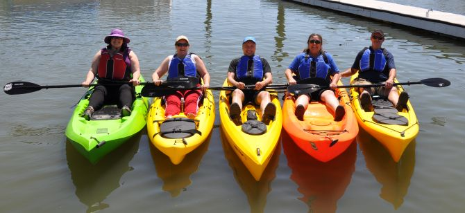 Kayaking at 101 Surf Sports