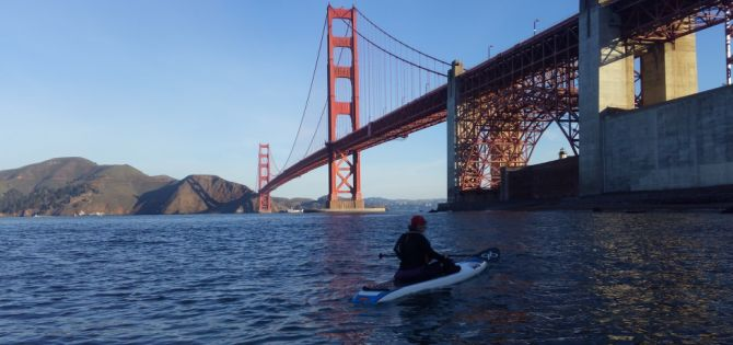 Paddleboarding Crissy Field is fun!