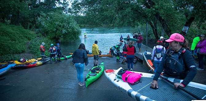 The California River Quest Starting line