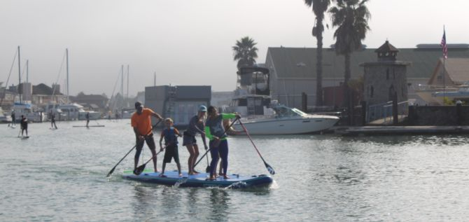 Stand up paddleboard racing with 101 Surf Sports