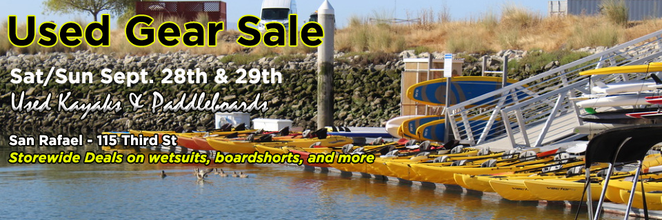 Used kayak and paddleboard sale