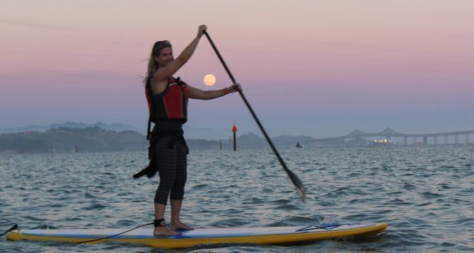 night time paddle tours on san francisco bay