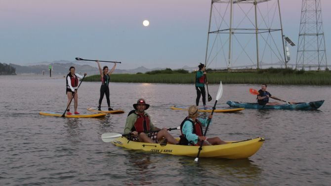 Full Moon Kayak Tours on San Francisco Bay